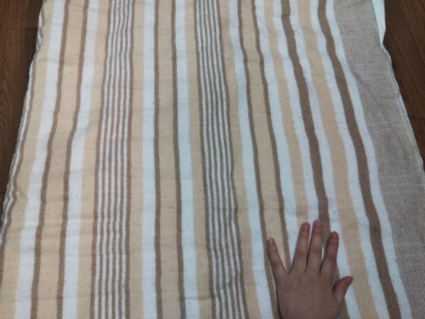 山善の電気毛布を広げた画像